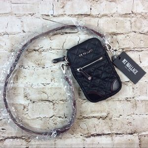 MZ Wallace Micro Crossbody Black Quilted Bag